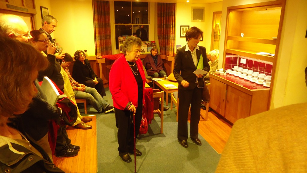 Professor Helena Hamerow (right) launches The Hirsel Excavations monograph with the author, Professor Rosemary Cramp (centre)