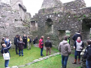 The students enjoyed a tour at Dundrum Castle